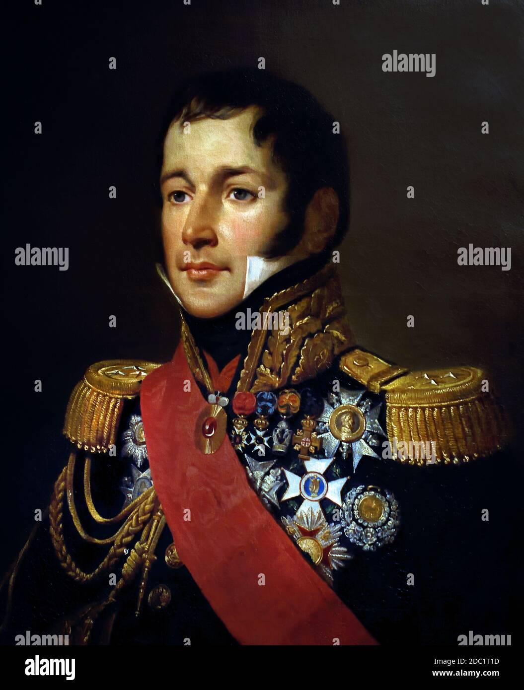 Armand Charles, Conde Guilleminot, 1774 – 1840, general francés durante las guerras napoleónicas. Francia, francés. ( ejército del emperador Napoleón Bonaparte ) Foto de stock