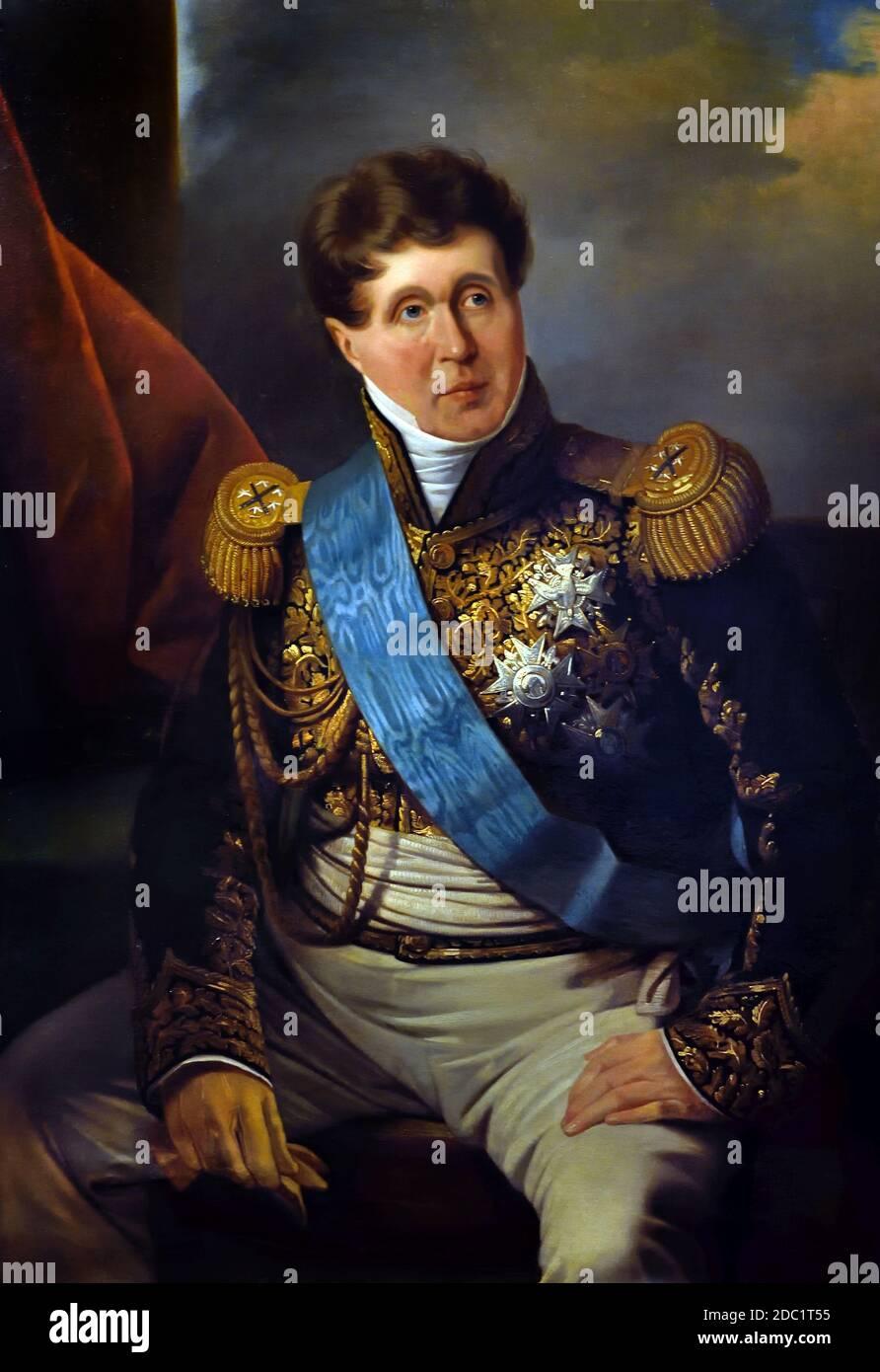 Mariscal Victor (1764-1841) Duke Belluno, Francia, francés. ( ejército del emperador Napoleón Bonaparte ) Foto de stock