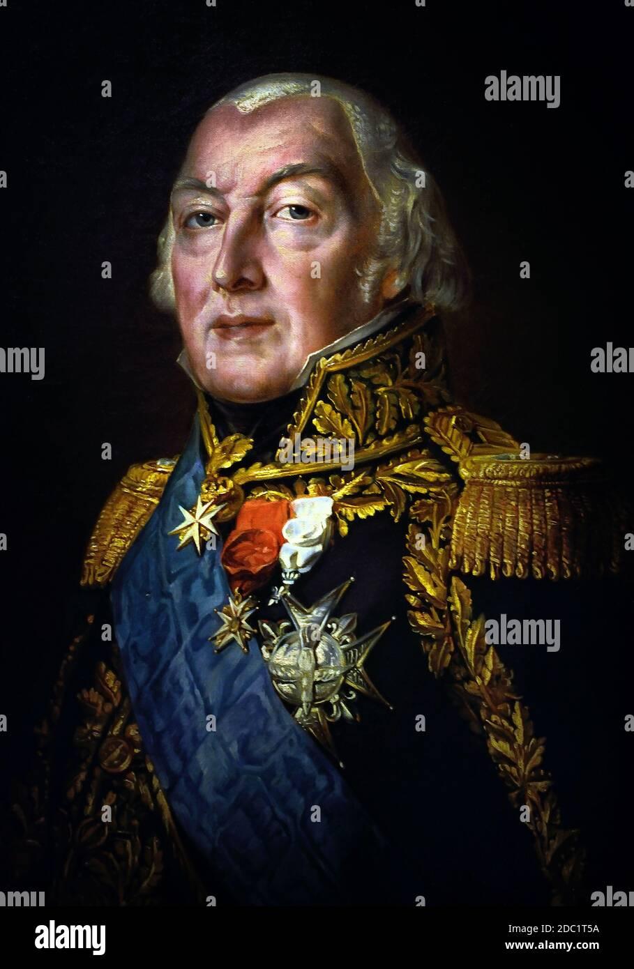 François-Henri de Franquetot de Coigny, duque de Coigny 1737 – 1821 Mariscal de Francia, francés. ( ejército del emperador Napoleón Bonaparte ) Foto de stock