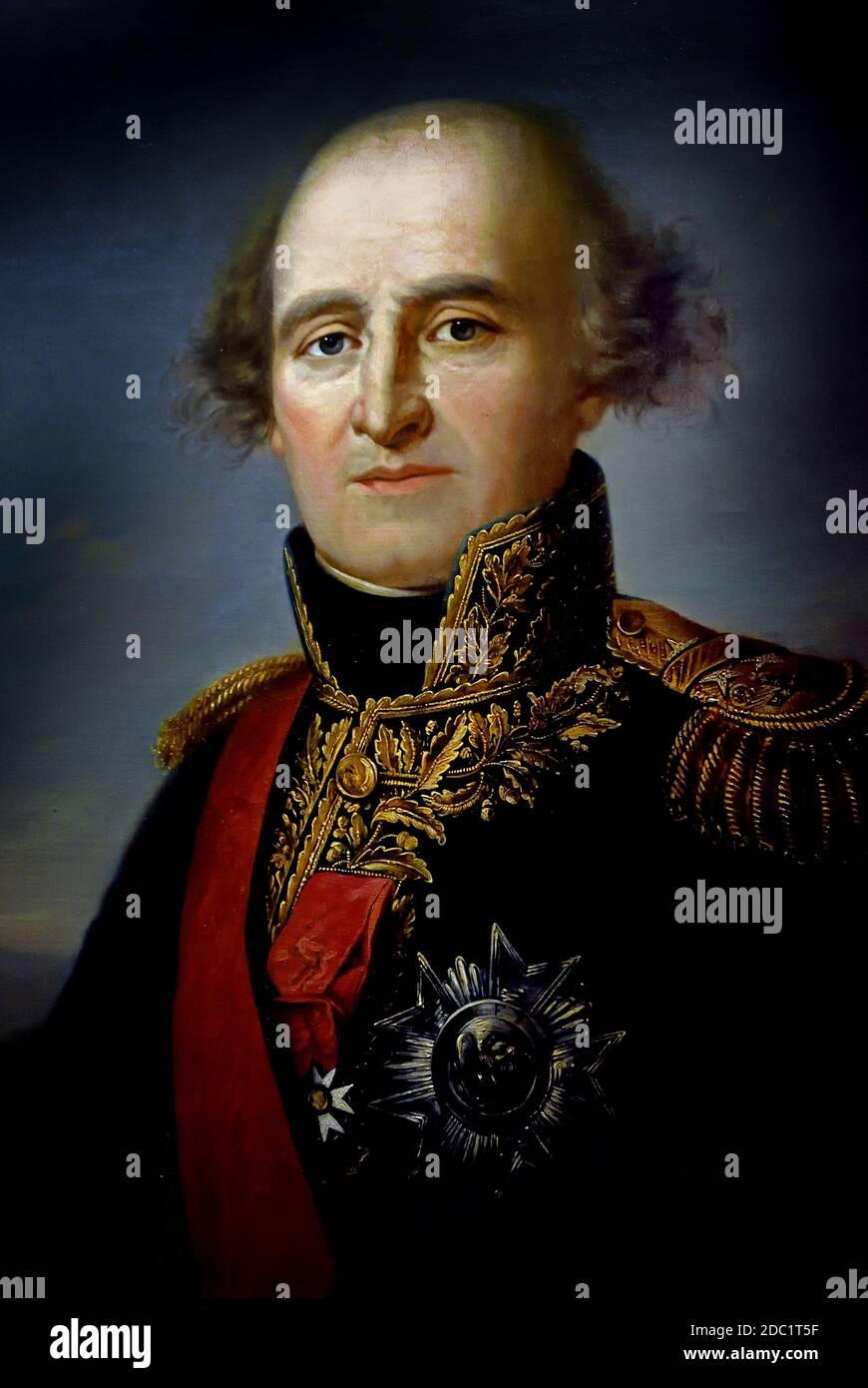 Jean-Mathieu-Philibert Sérurier, 1er Conde Sérurierr 1742 – 1819 Francia, francés. (Lideró una división en la Guerra de la primera Coalición y se convirtió en Mariscal del Imperio bajo el emperador Napoleón). ( ejército del emperador Napoleón Bonaparte ) Foto de stock