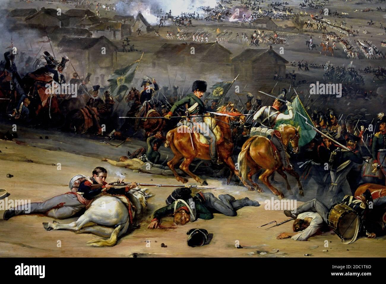 Batalla de Laubressel , parte de la Guerra del Mariscal de campo de la Sexta Coalición Karl Philipp, Príncipe de Schwarzenberg Monte un ataque convergente de tres puntas contra el ejército más débil del Mariscal Jacques MacDonald. Francia, francés. Foto de stock