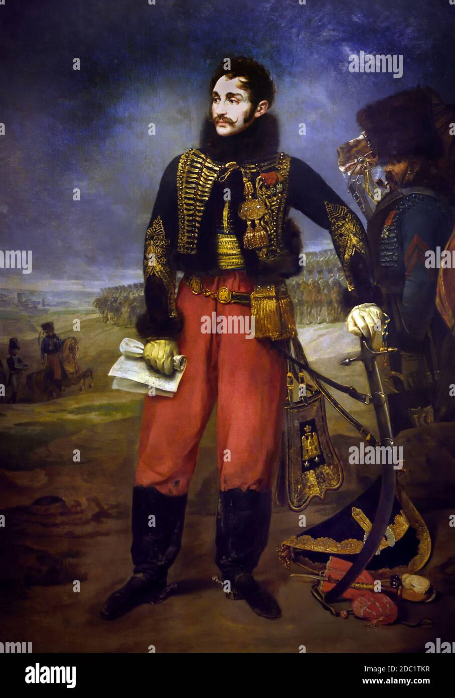 General Antoine Charles Louis de Lasalle 1775-1809 recibe la capitulación de la guarnición de Stettin, octubre de 1806 por GROS Antoine Jean 1771-1835 Francia Francés ( ejército del emperador Napoleón Bonaparte ) Foto de stock
