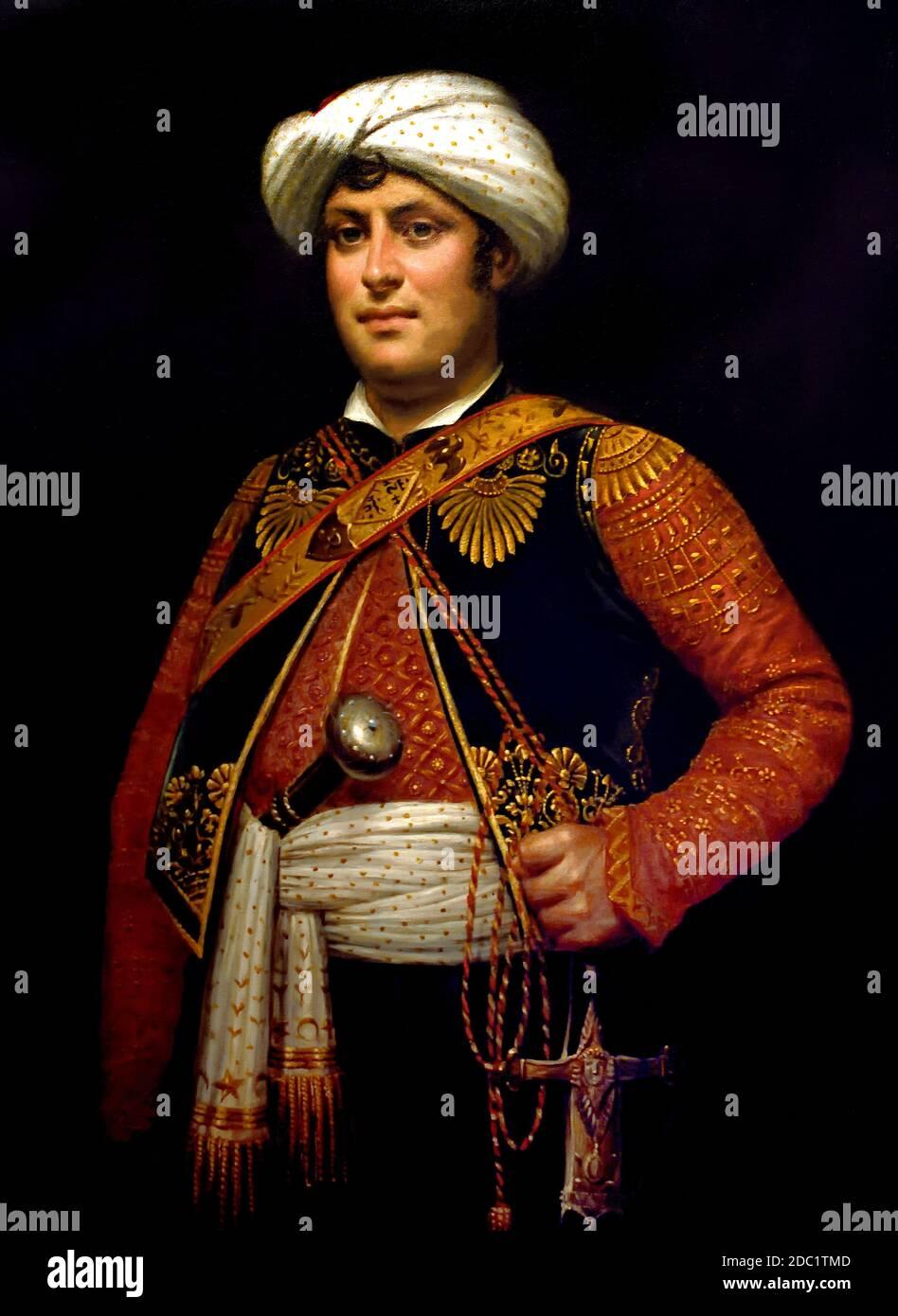 Roustam el Mameluke 1780-1845 Francia, francés. (Ejército del emperador Napoleón Bonaparte) raza Roustam, una exótica excepción entre los guardias de Napoleón Foto de stock