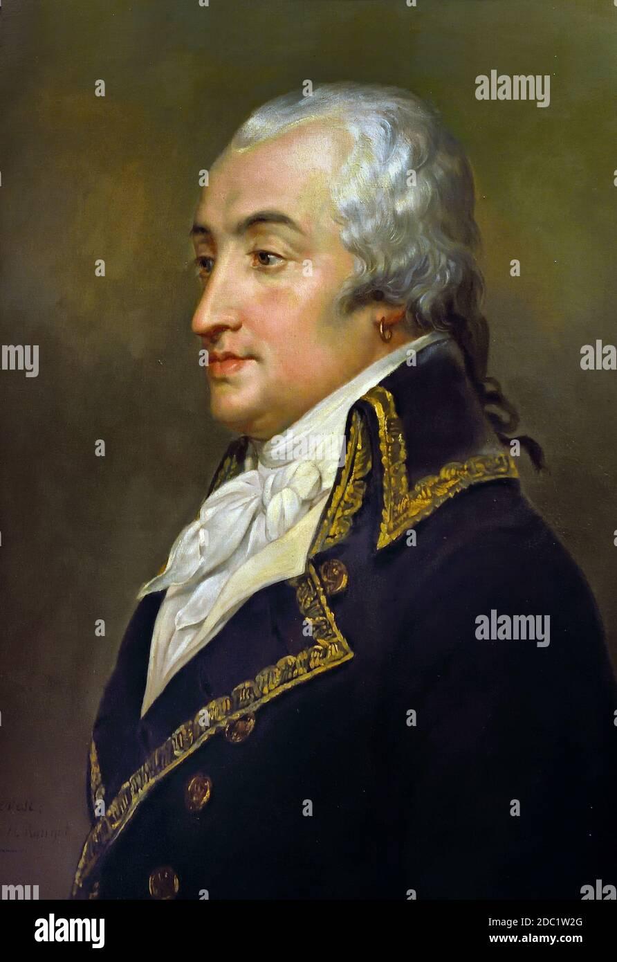 Duke Armand Louis de Gontaut de Biron 1747-1793 Francia, francés ( Armand Louis de Gontaut, duque de Lauzun, y duque de Biron ), Foto de stock