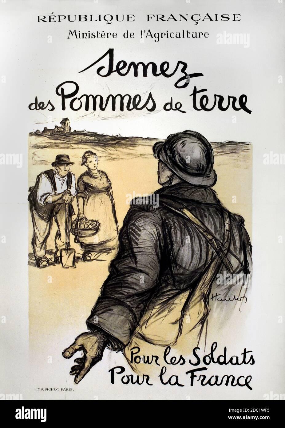 Ministerio de Agricultura - Ministerio de Agricultura. Cultiva patatas. Para los soldados, para Francia, 1915. Francia, francés, alemán, Alemania, Foto de stock