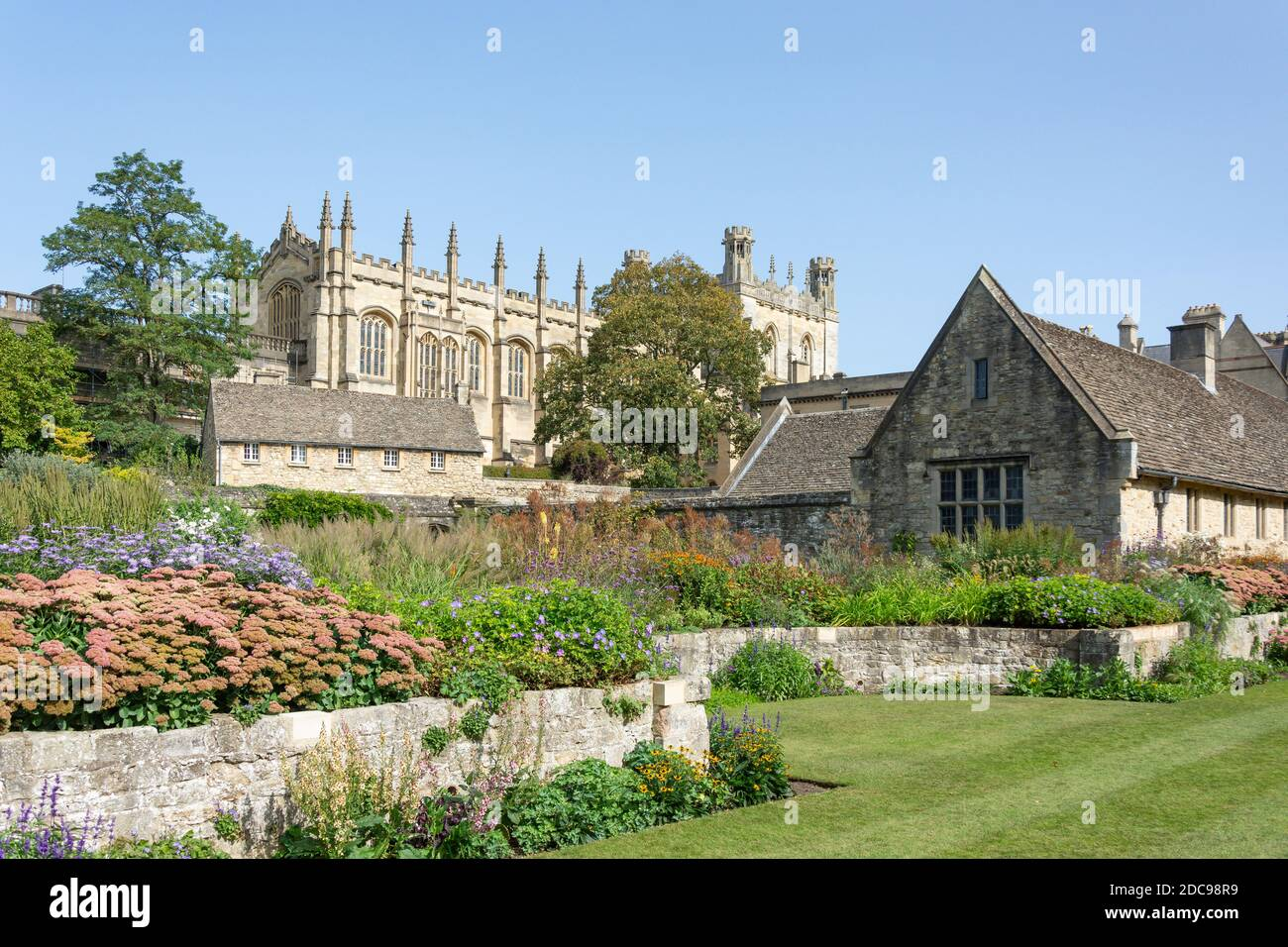 War Memorial Garden, Christ Church College, Universidad de Oxford, St Algate's, Oxford, Oxfordshire, Inglaterra, Reino Unido Foto de stock