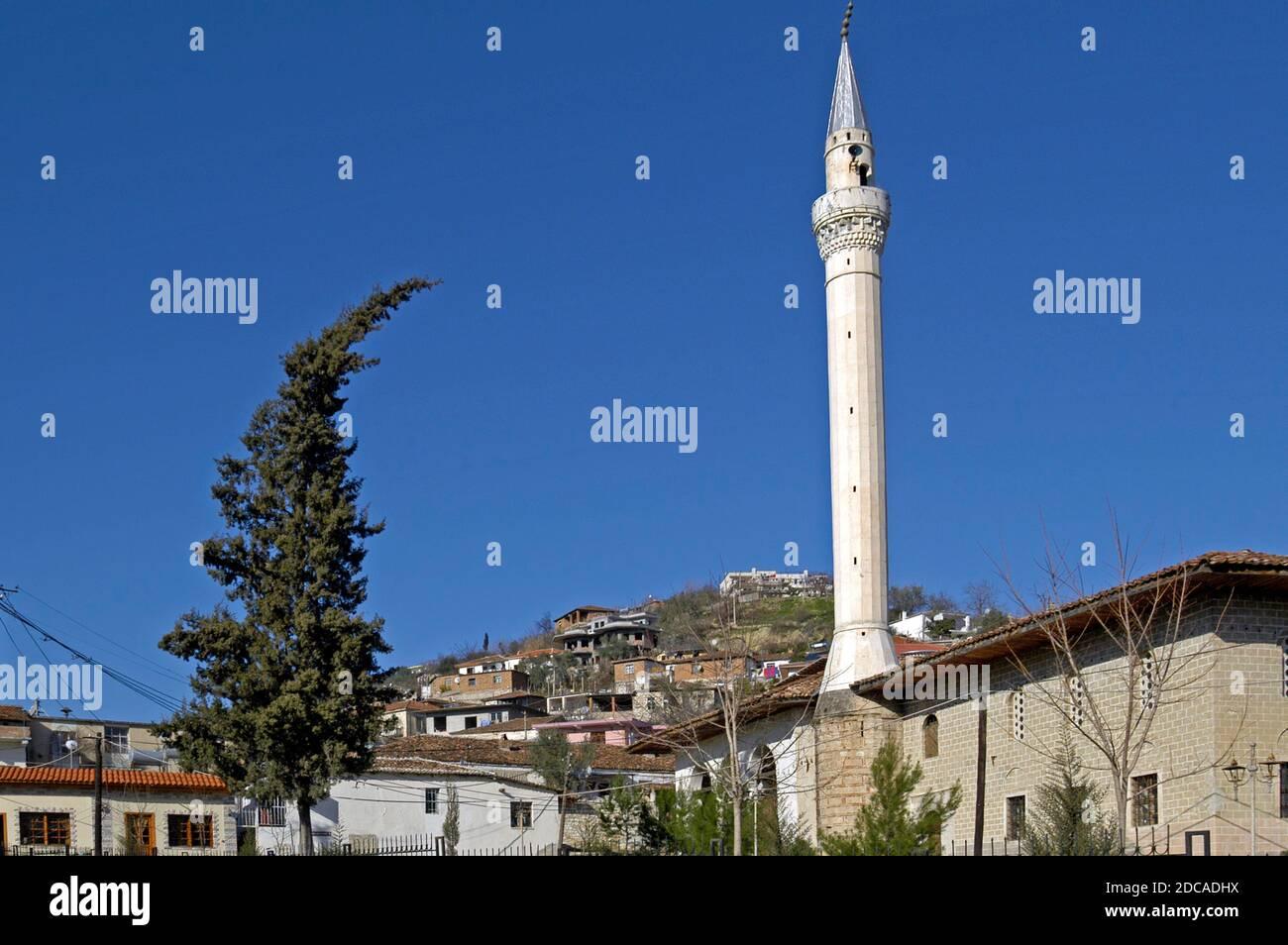 Casco antiguo, Berat, sur de Albania Foto de stock