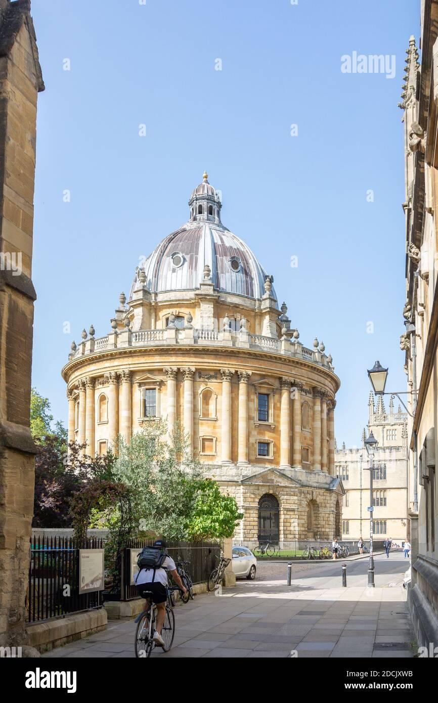 Radcliife Cámara de estilo palladiano de Catte Street, Oxford, Oxfordshire, Inglaterra, Reino Unido Foto de stock
