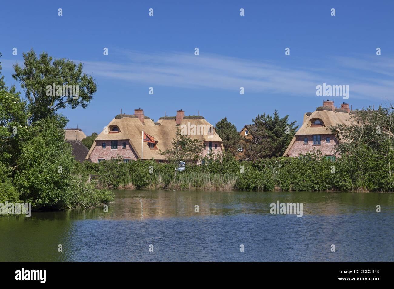 Geografía / viajes, Alemania, Schleswig-Holstein, Sylt, en el estanque del pueblo en Wenningstedt, Derechos adicionales-liquidación-Info-no-disponible Foto de stock