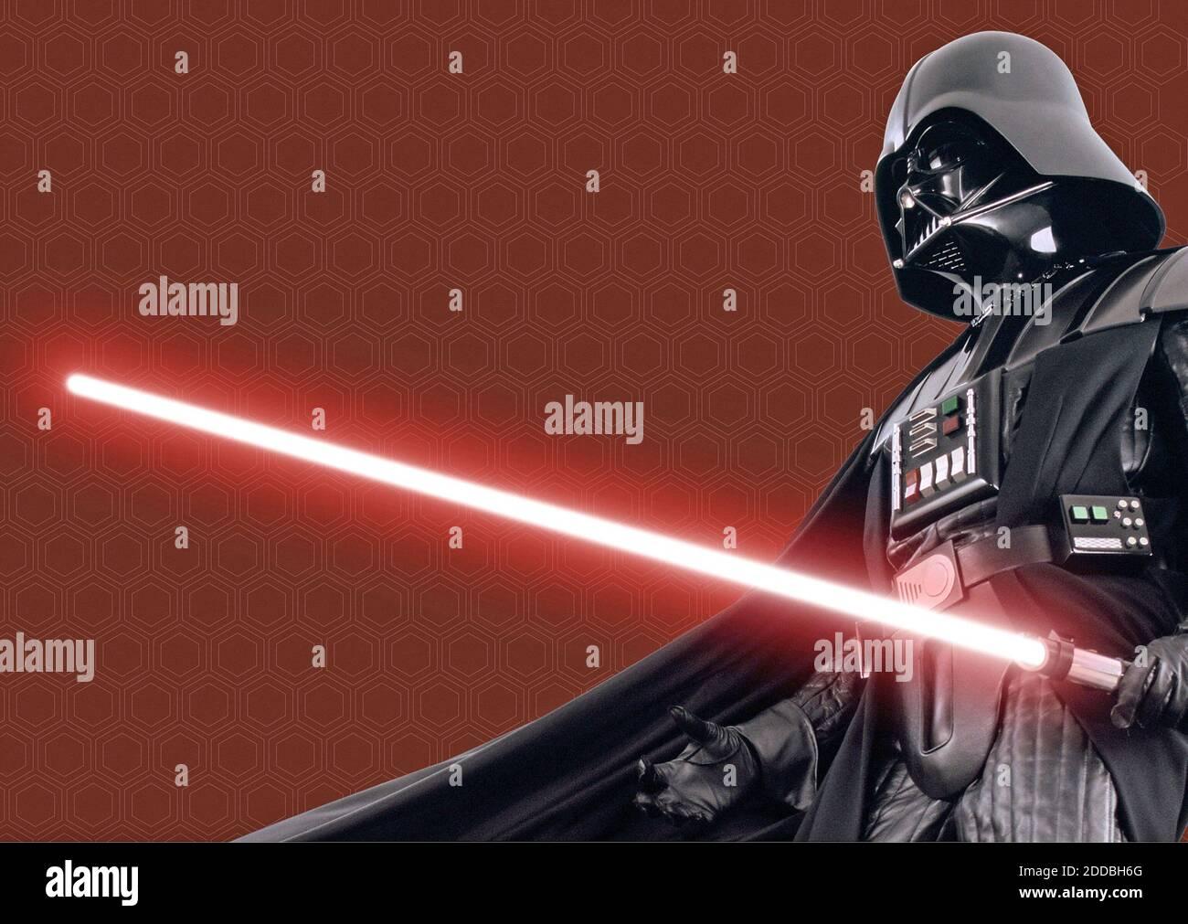 NO HAY PELÍCULA, NO HAY VÍDEO, NO hay televisión, NO HAY DOCUMENTAL - Darth Vader en negro capa y la vida de apoyo traje, en Star Wars. Foto por KRT/ABACAPRESS.COM Foto de stock