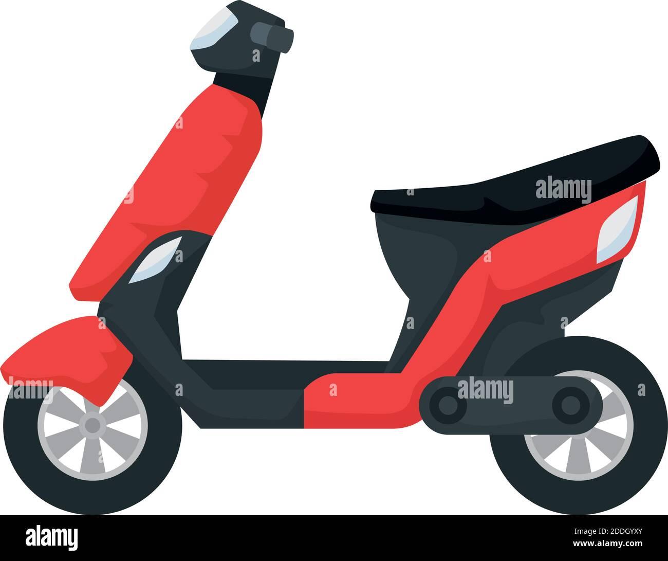scooter motocicleta vehículo icono aislado Ilustración del Vector