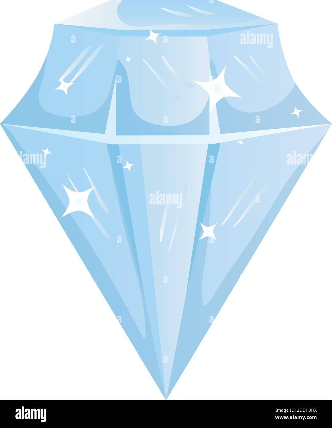 icono aislado de piedra de diamante de lujo Ilustración del Vector