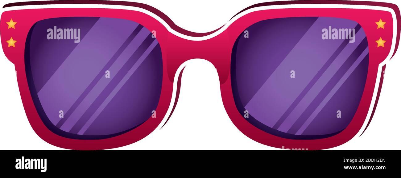 Gafas de sol de verano accesorio icono aislado Ilustración del Vector