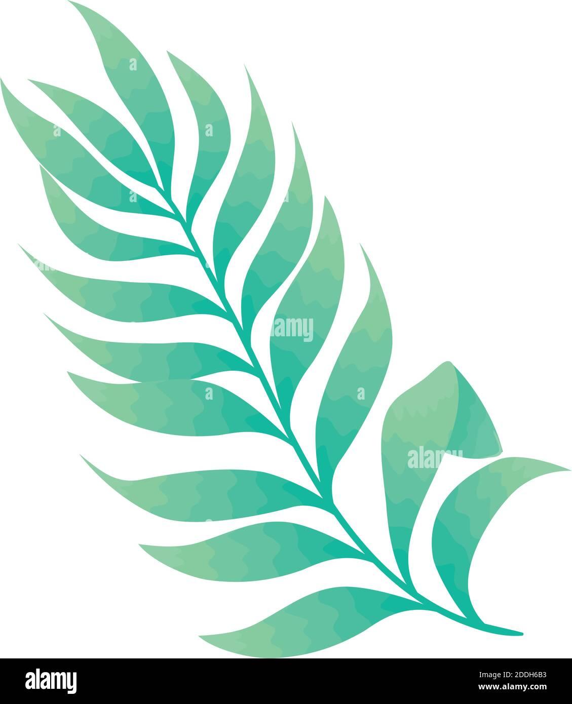 hoja de palma naturaleza icono aislado Ilustración del Vector