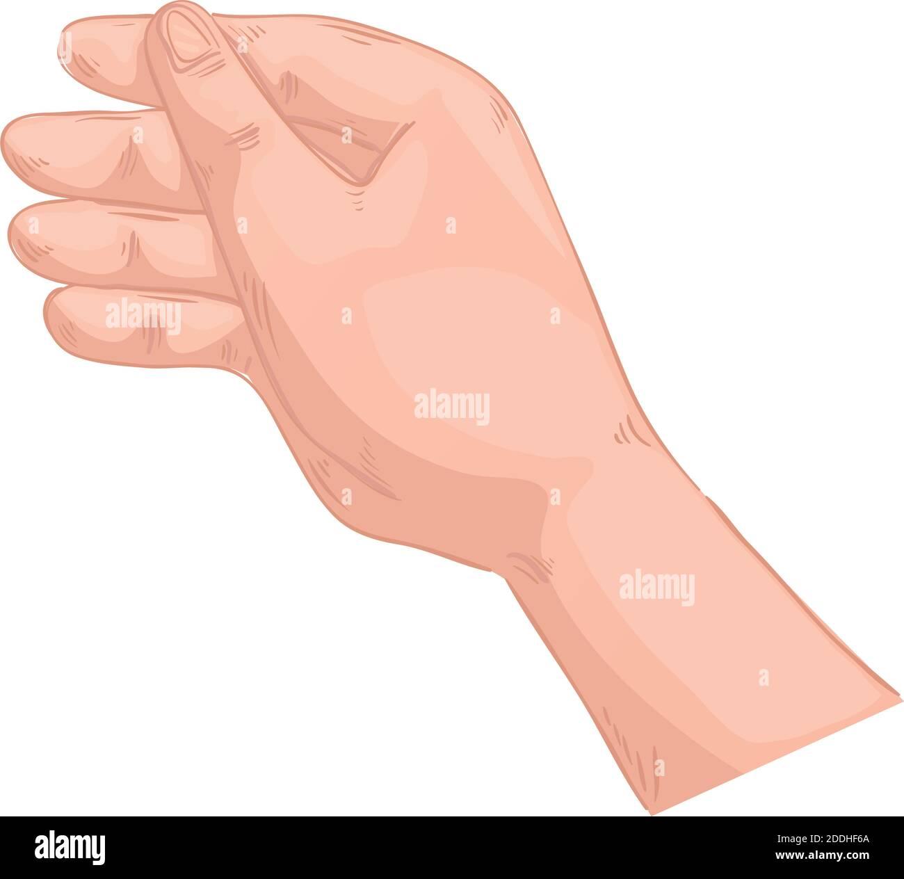 mano hombre sosteniendo símbolo icono aislado Ilustración del Vector