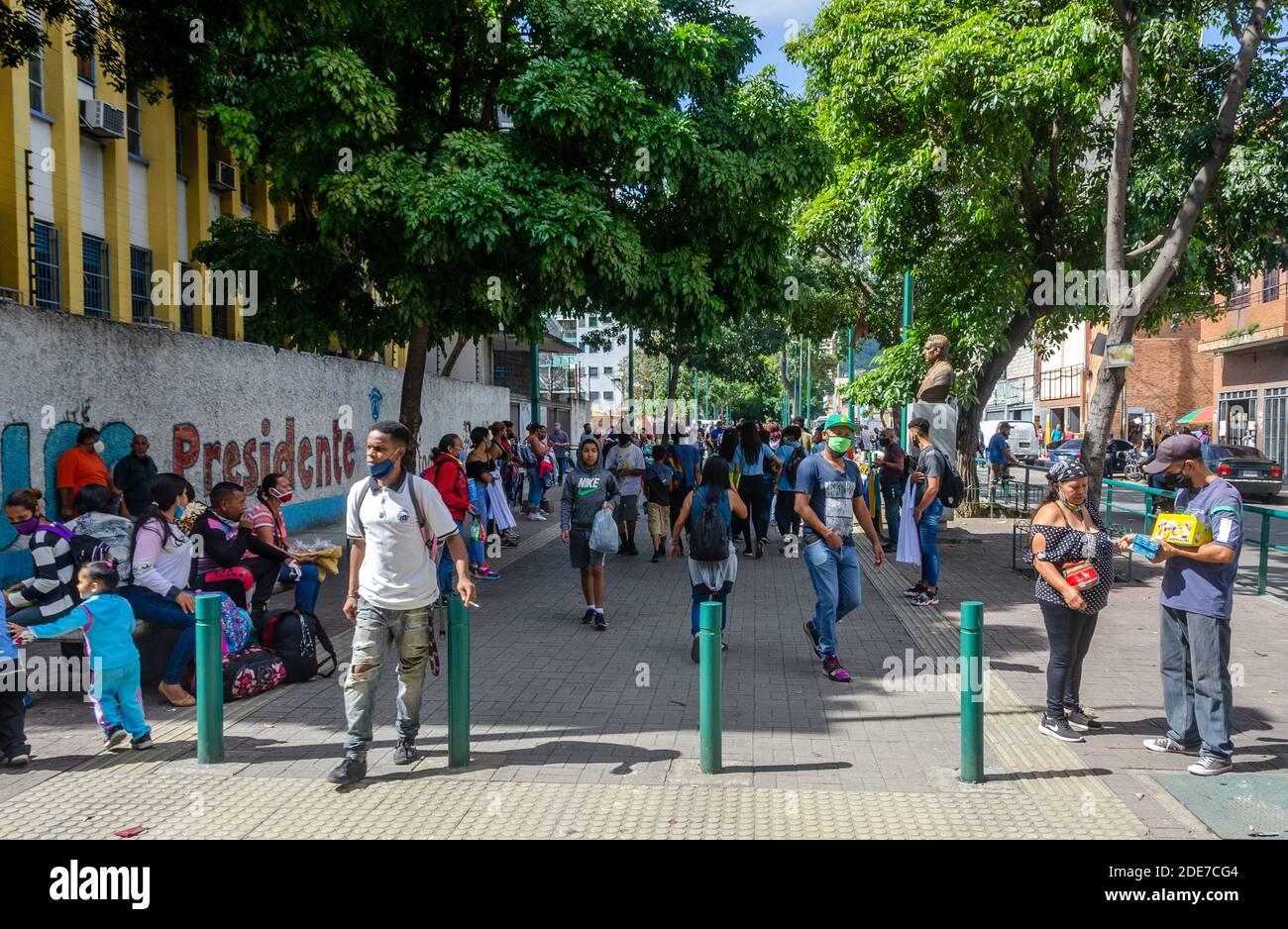 Venezuela comienza la última semana de la cuarentena radical de este 2020.a partir del lunes 23 de noviembre, Venezuela comenzará una nueva semana de cuarentena radical Foto de stock