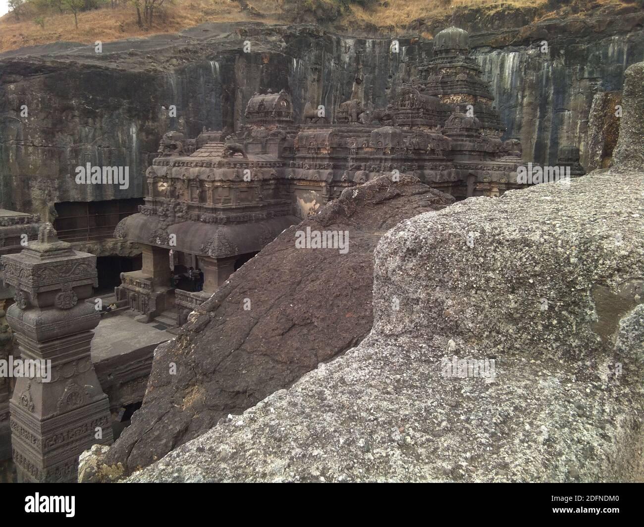 ellora ajanta cueva punto de atracción mundialmente famoso Foto de stock