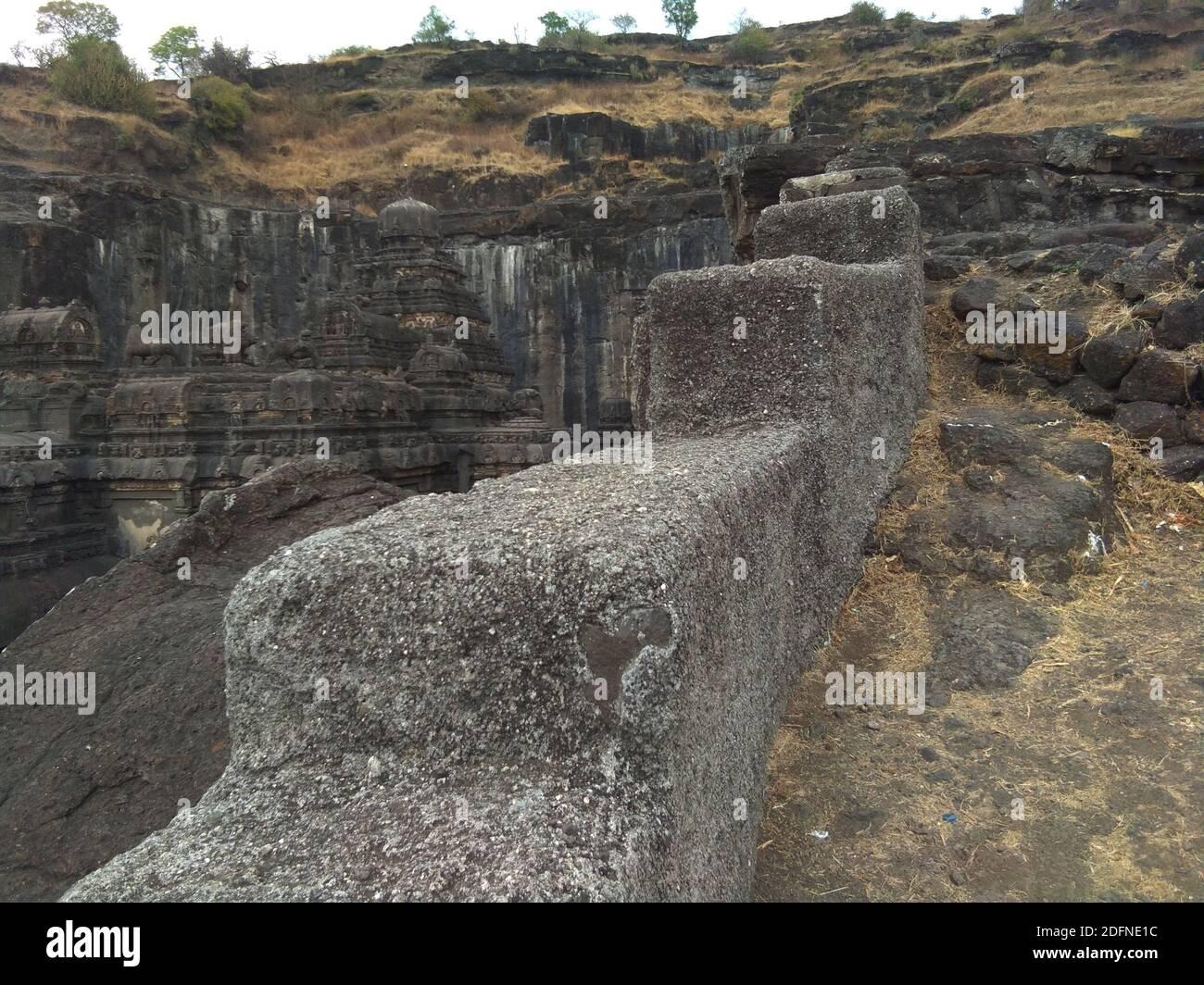 ellora ajanta cueva atracción mundialmente famosa budismo punto Foto de stock