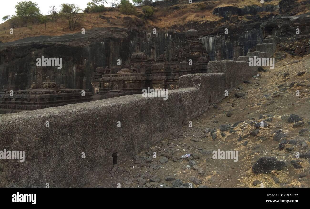 ellora ajanta cueva punto mundialmente famoso en la india Foto de stock