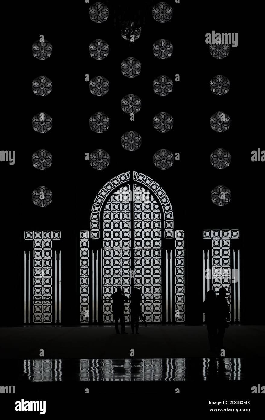 En der Hassan II Moschee, Casablanca Foto de stock