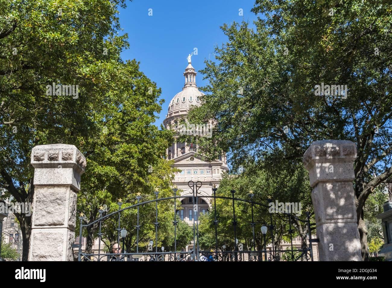 Vistas aéreas de la ciudad de Austin, Texas Río Colorado Foto de stock