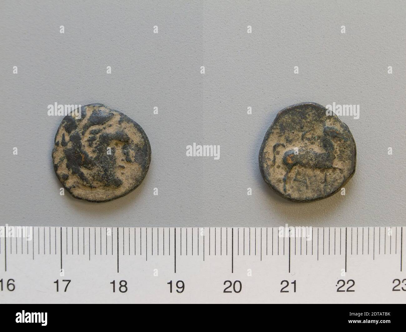 Regla: Cassander, Coin of Cassander, 306–297 a.C., Bronce, 3.87 g, 2:00, 17.5 mm, hecho en Macedonia, griego, siglo IV–3 a.C., Numismática Foto de stock