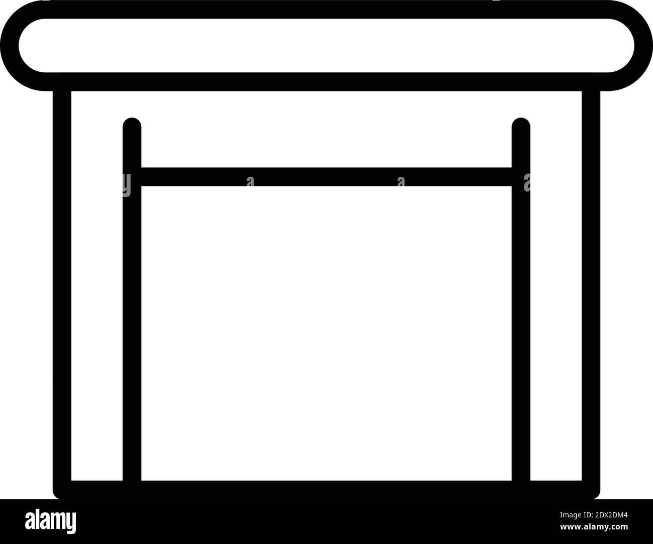 Icono de mesa de madera. Contorno de madera vector icono para diseño web aislado sobre fondo blanco Ilustración del Vector