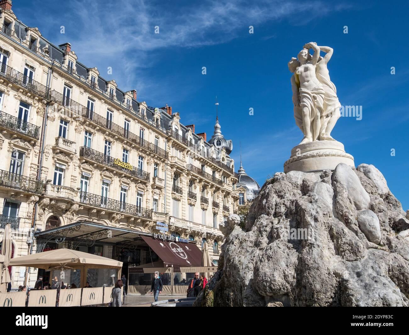 Montpellier es una ciudad en la región de Occitanie, en el sur de Francia, cerca del mar Mediterráneo. Foto de stock