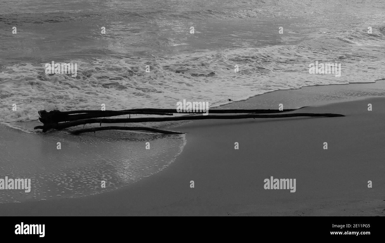 resumen en el mar de invierno Foto de stock