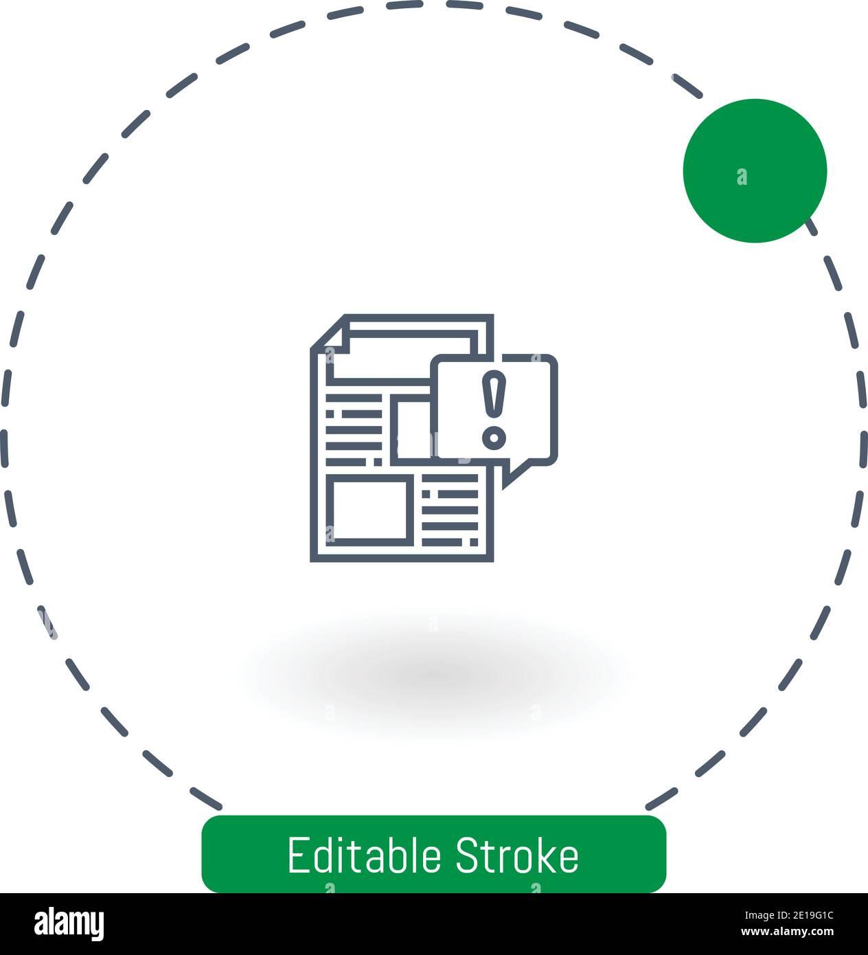 icono de vector de contenido arriesgado iconos de contorno de trazo editables para la web y móvil Ilustración del Vector