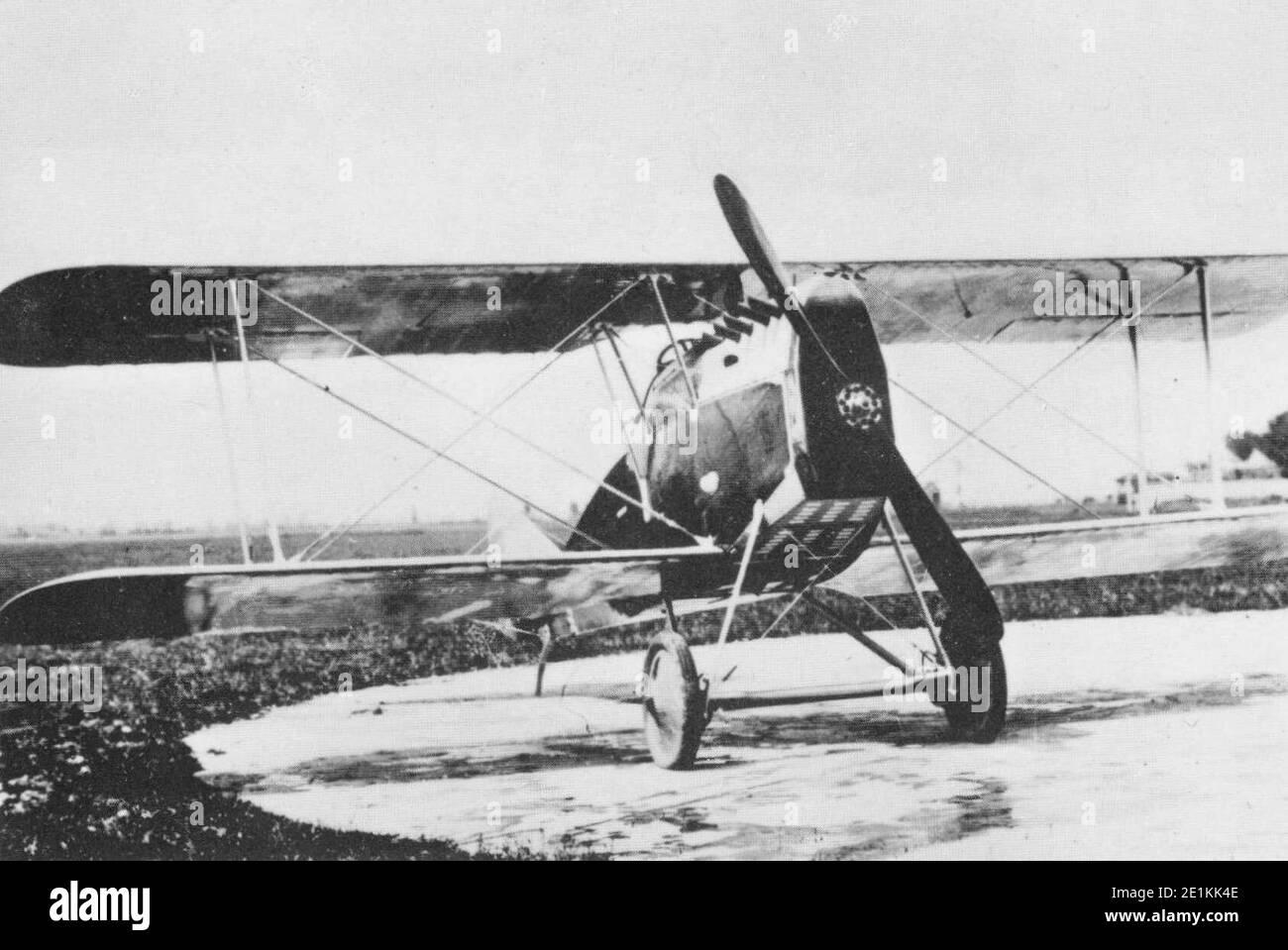 Ansaldo A.1 Balilla, caccia biplano en livrea italiana, data e luogo della scatto imprecisati. Foto de stock