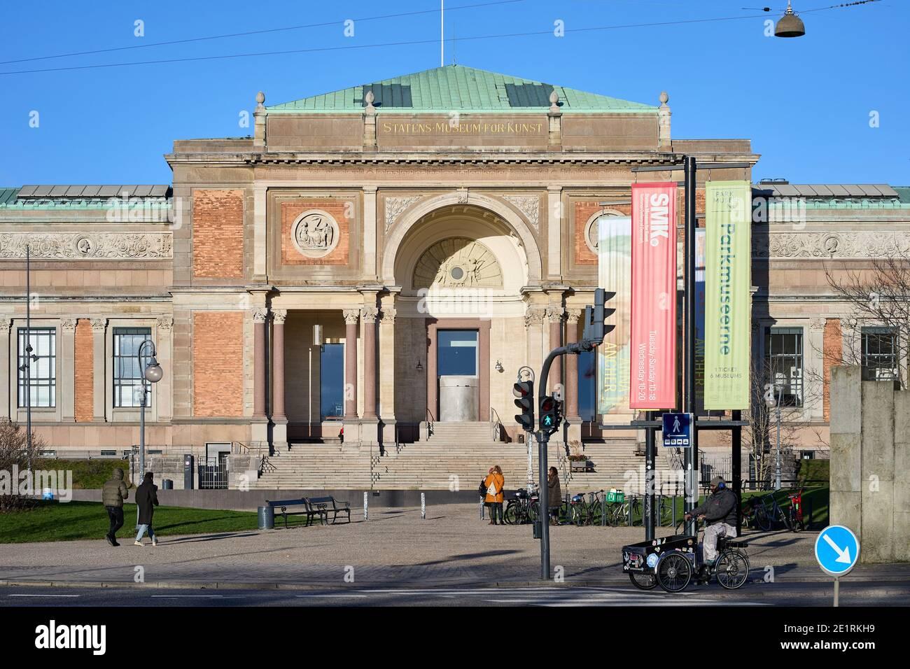 Statens Museum for Kunst (Galería Nacional de Dinamarca), entrada; Copenhague, Dinamarca Foto de stock