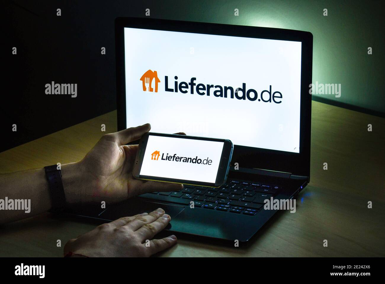 Logo Lieferando Foto de stock