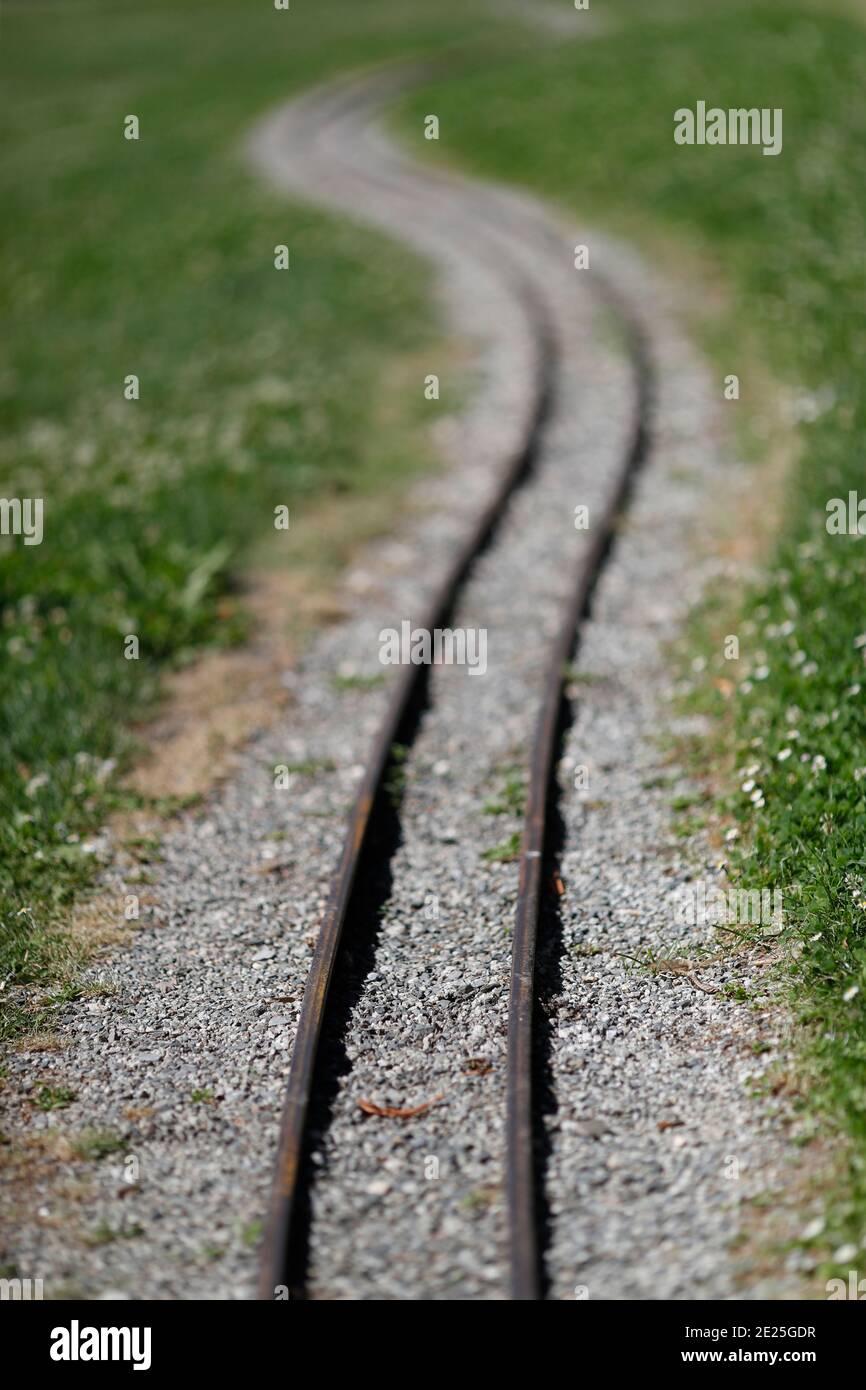 Ferrocarril. Francia. Foto de stock