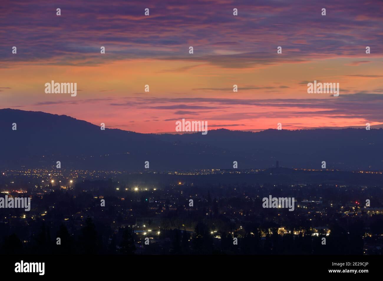 Vistas aéreas de Silicon Valley Foto de stock