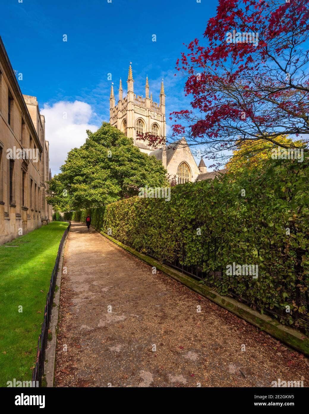 Merton College, Oxford; parte de la Universidad de Oxford, Inglaterra. Foto de stock