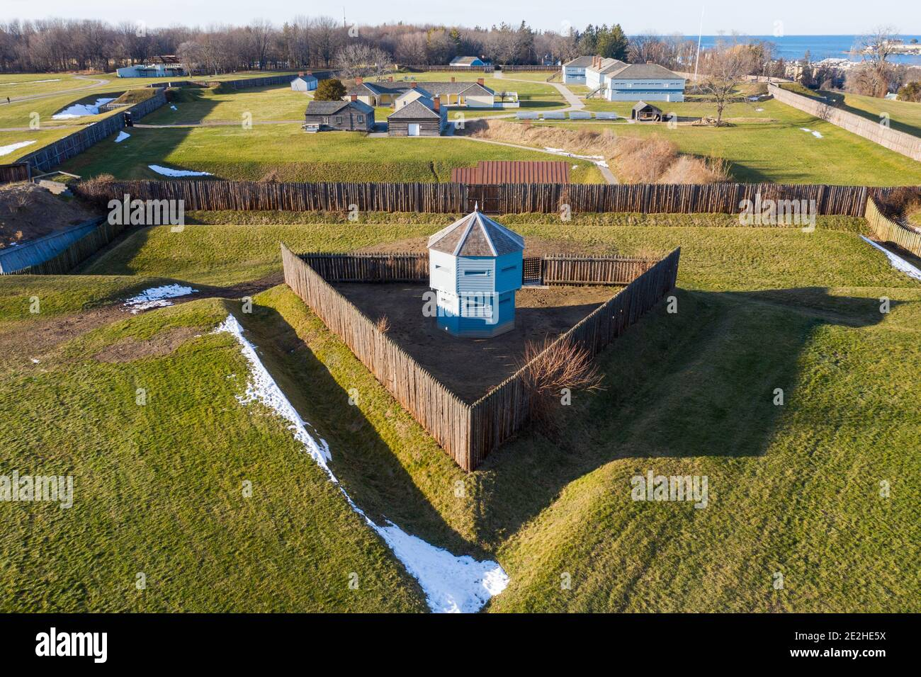Fort George National Historic Site, Niagara-on-the-Lake, Ontario, Canadá Foto de stock