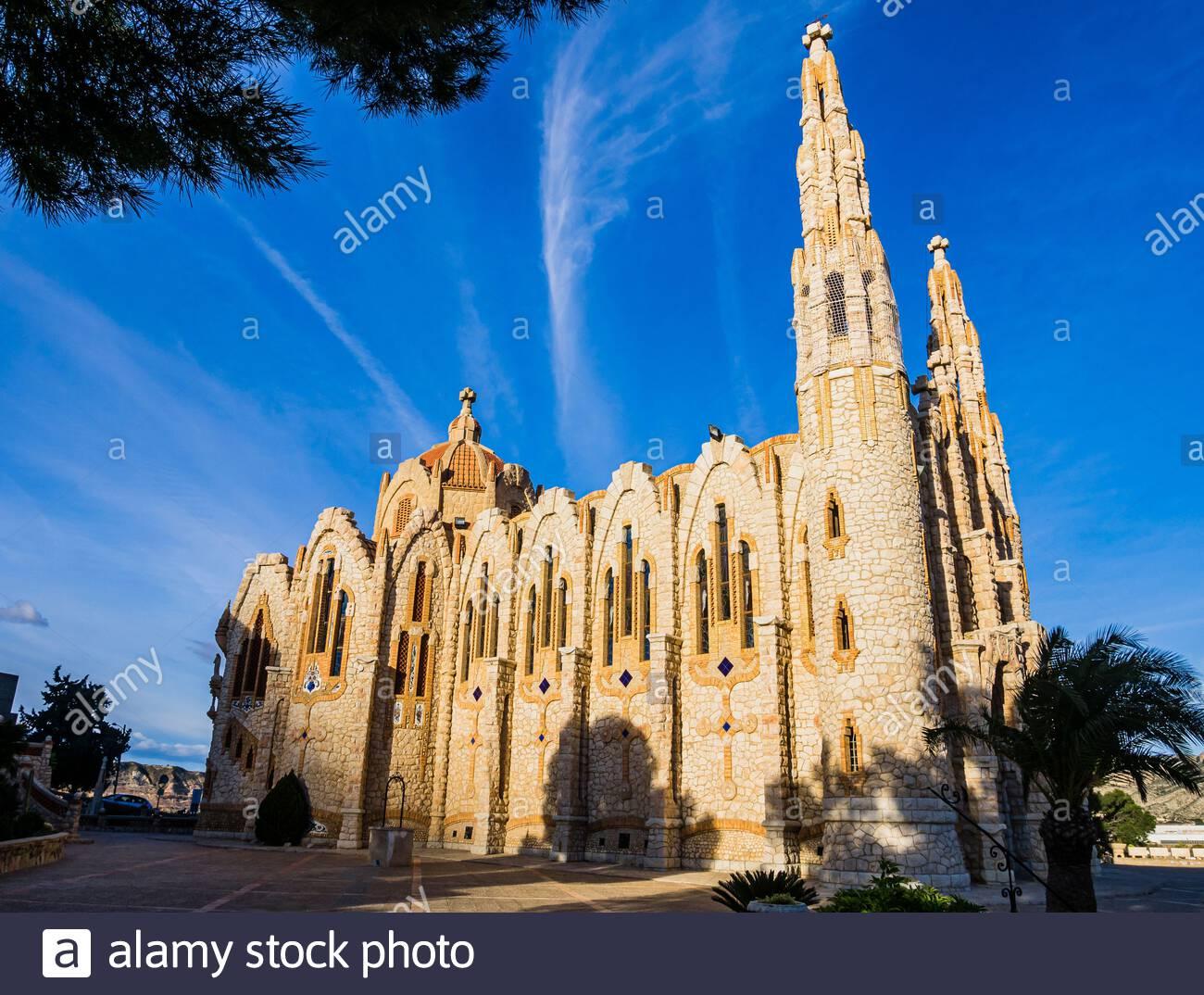 El Santuario de Santa María Magdalena es un edificio religioso situado en Novelda, Alicante, Comunidad Valenciana, España. Foto de stock