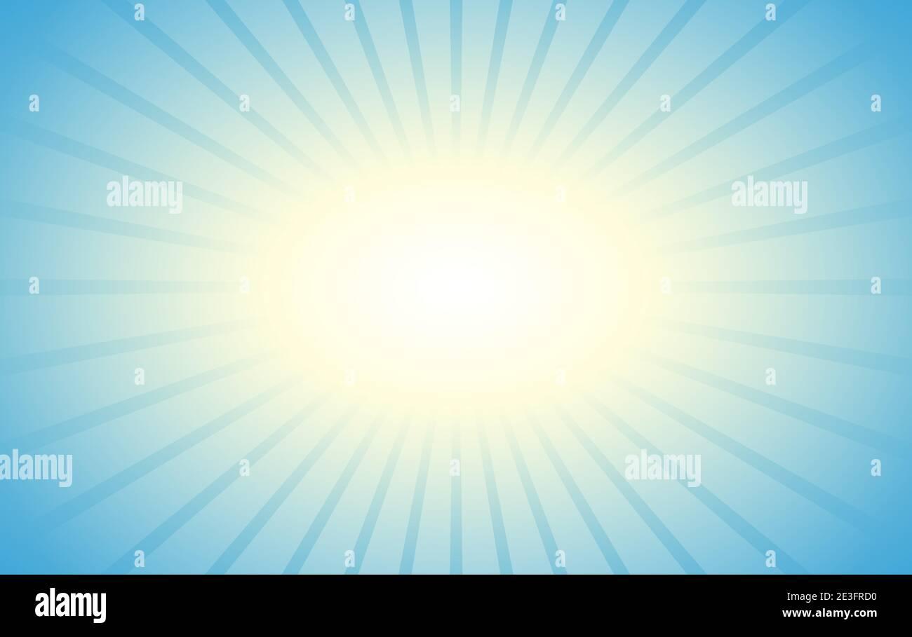 Azul luz del sol rayada fondo Ilustración del Vector
