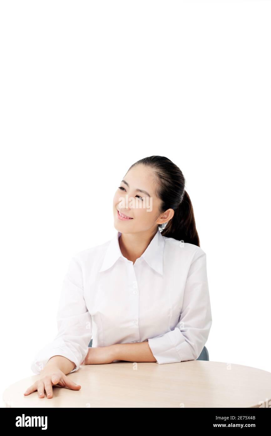 Mujer de negocios de moda oriental foto de alta calidad Foto de stock