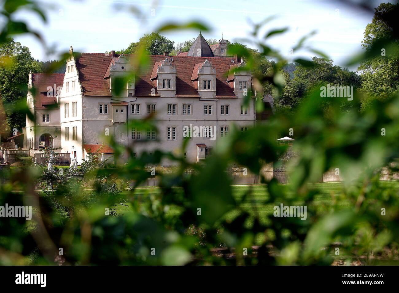 Schloss Muenchhausen, cerca de Hanover, donde el escuadrón nacional francés permanece durante la Copa del Mundo, el 9 de junio de 2006 en Hanover, Alemania. Foto de Gouhier-Hahn-Orban/Cameleon/ABACAPRESS.COM Foto de stock