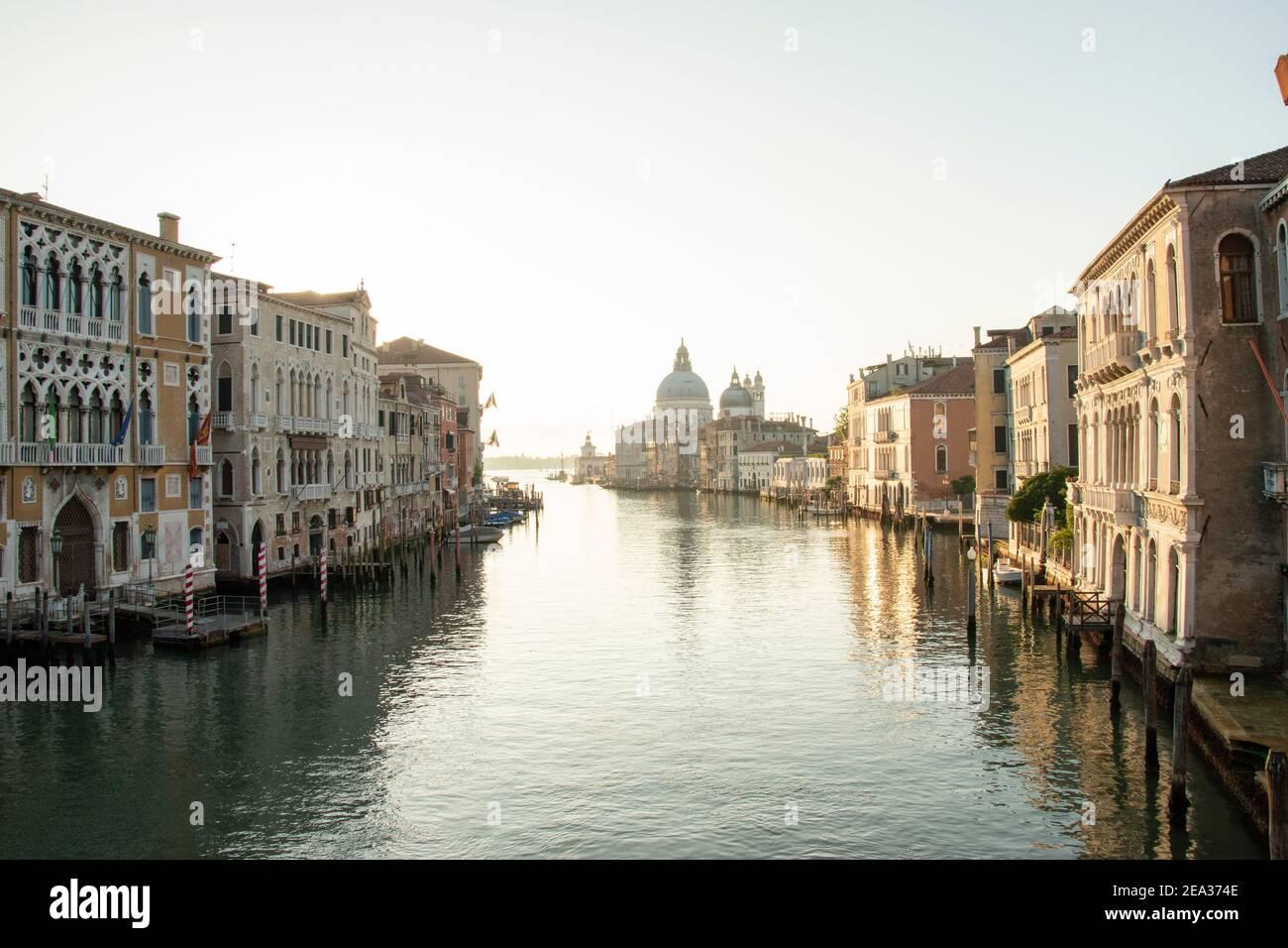 Basílica de Santa Maria della Salute, ciudad de Venecia, Italia, Europa Foto de stock