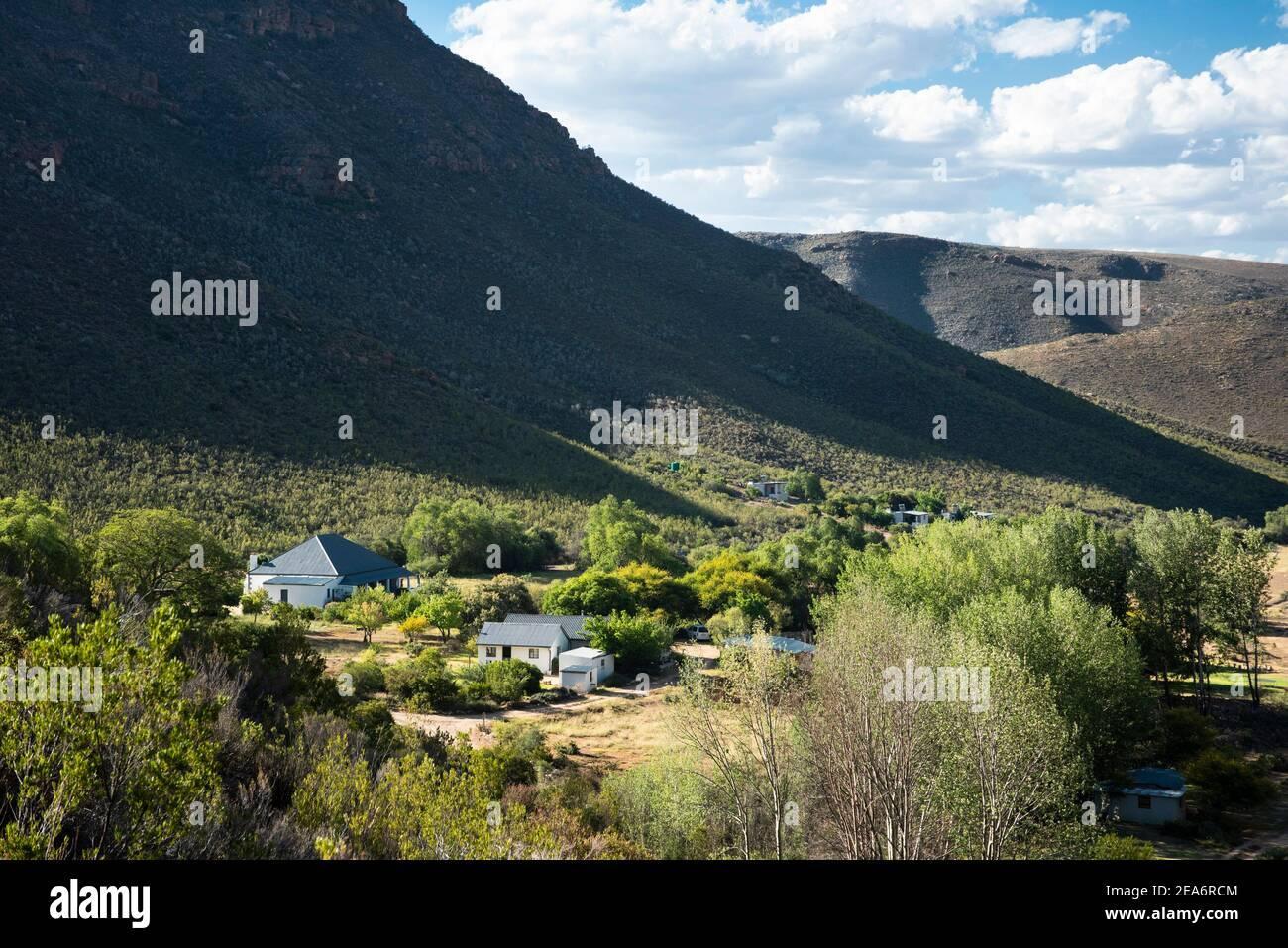 Cedar Falls base Camp, Baviaanskloof, Sudáfrica Foto de stock