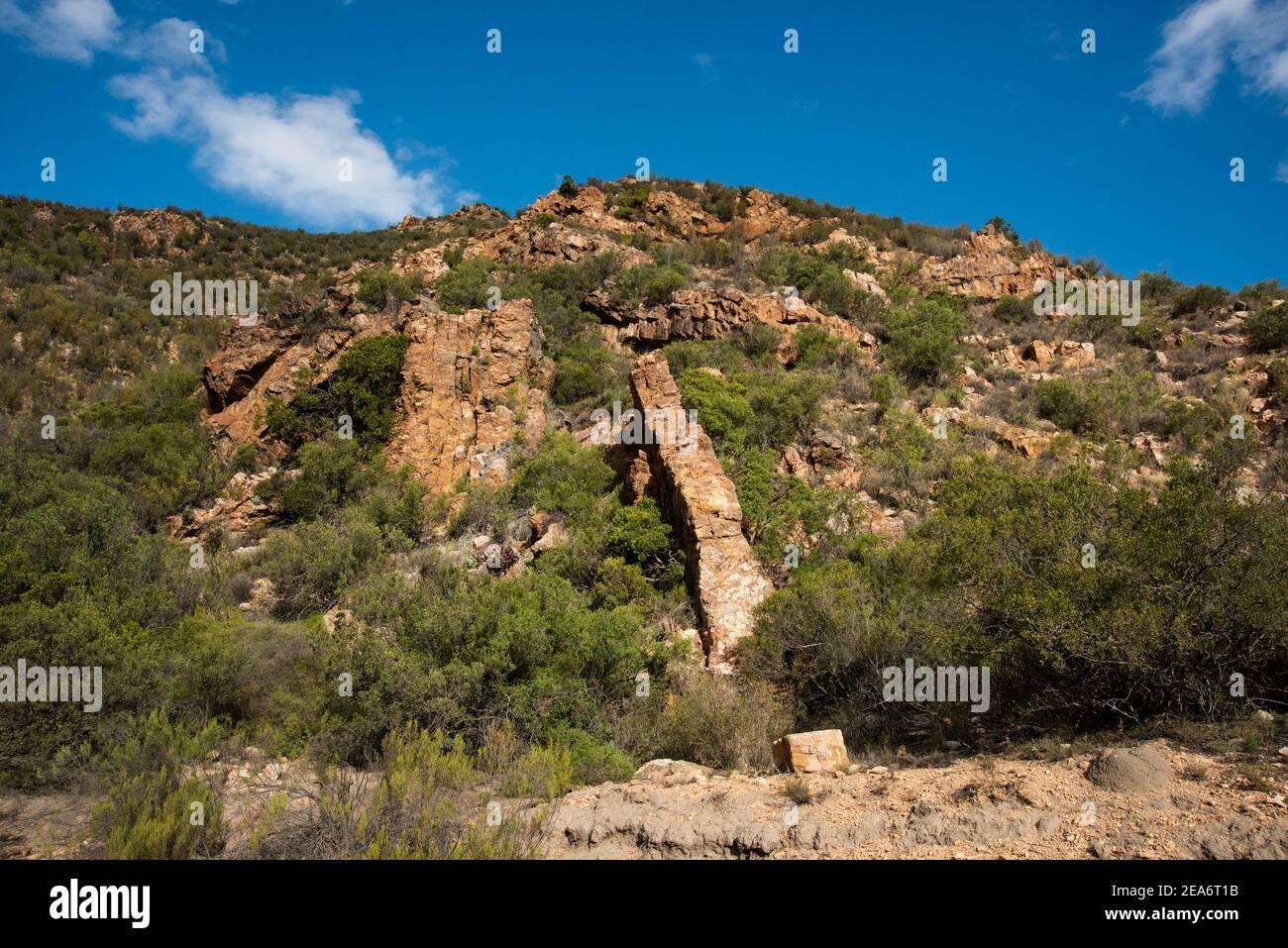 Paisaje, Baviaanskloof, Sudáfrica Foto de stock