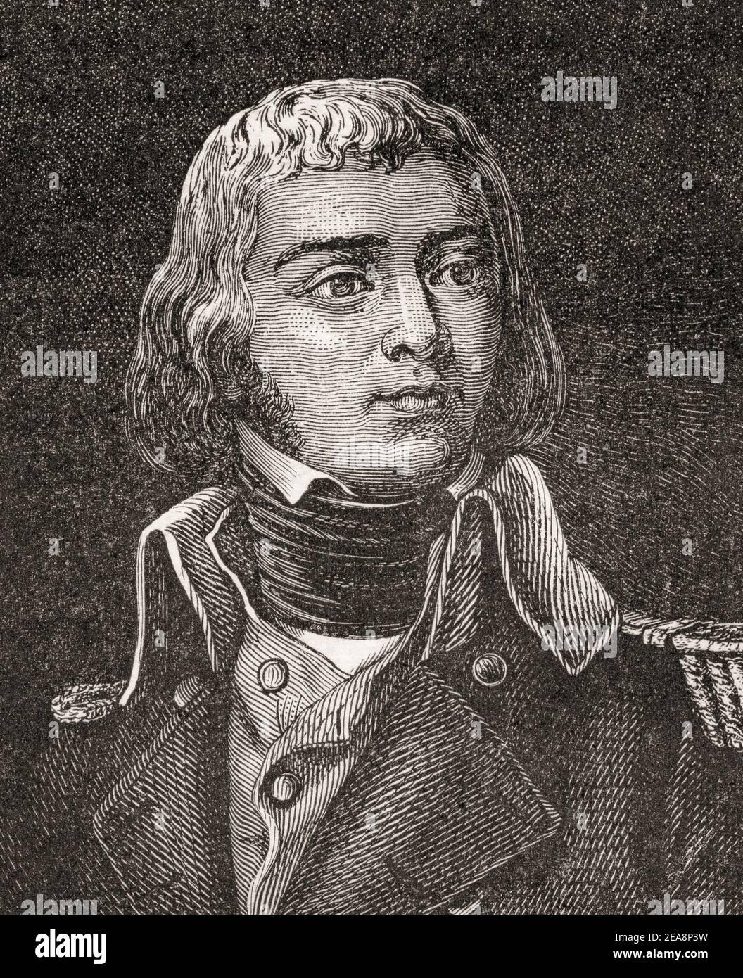 Étienne Jacques Joseph Alexandre MacDonald, 1er Duque de Taranto, 1765 – 1840. Mariscal del Imperio y líder militar durante las guerras Revolucionarias y Napoleónicas francesas. Foto de stock
