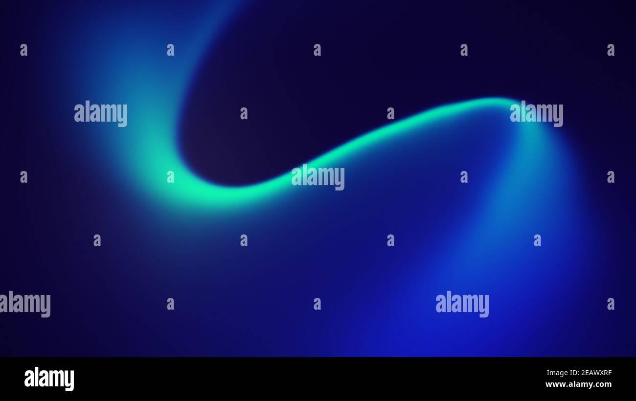 Onda abstracta que fluye fondo azul y turquesa. Fondo dinámico difuminado en resolución 4k. Foto de stock