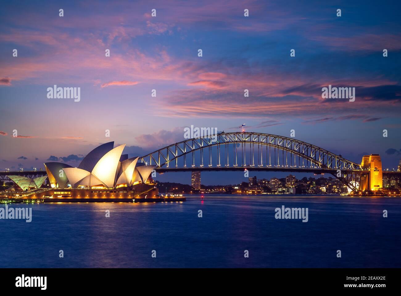 5 de enero de 2019: Sydney Opera House, un centro de artes escénicas multi-sede en el puerto de Sydney, ubicado en Sydney, Nueva Gales del Sur, Australia. Se convirtió en un Foto de stock