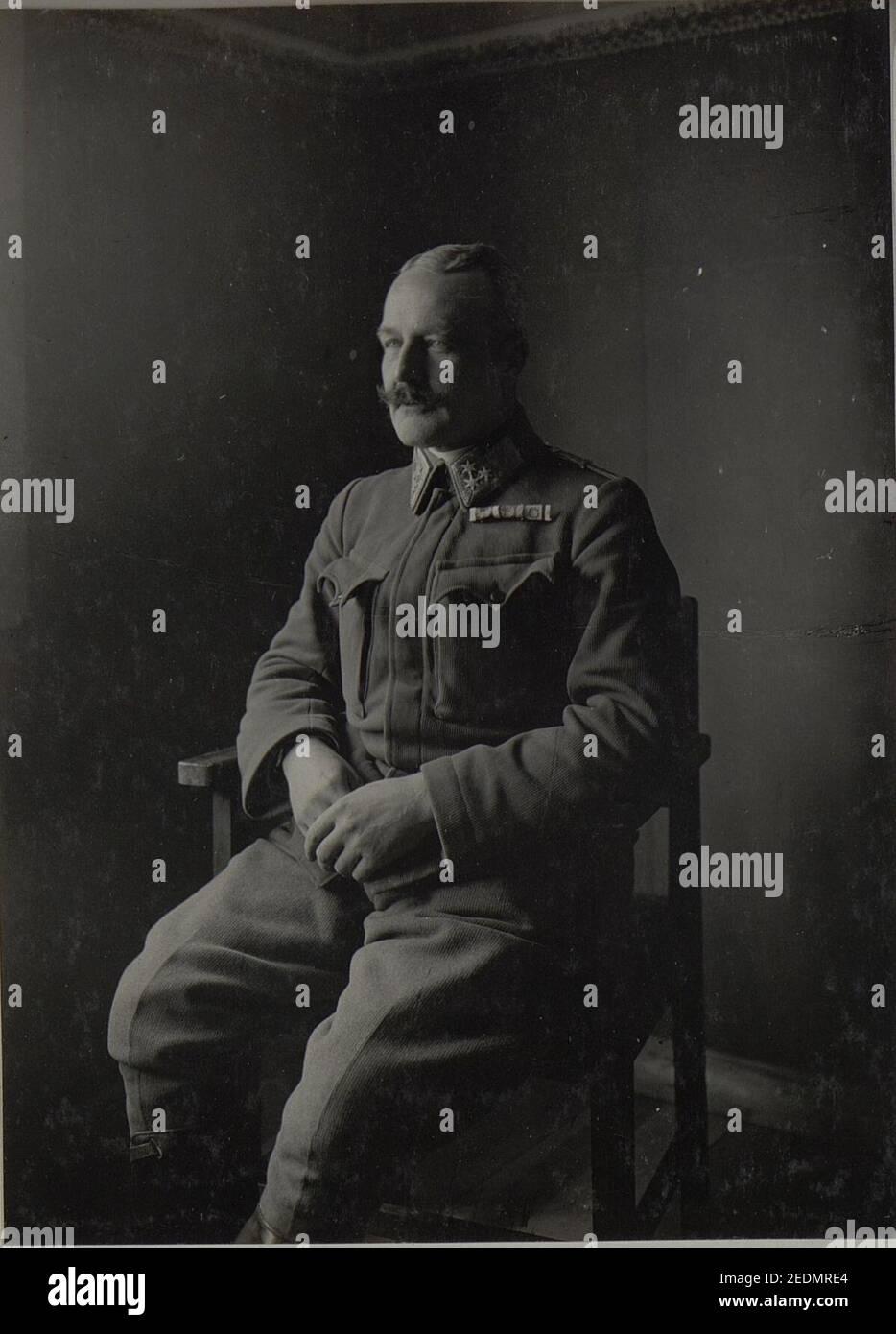 Oberst Franz v.Ellenberger. Foto de stock