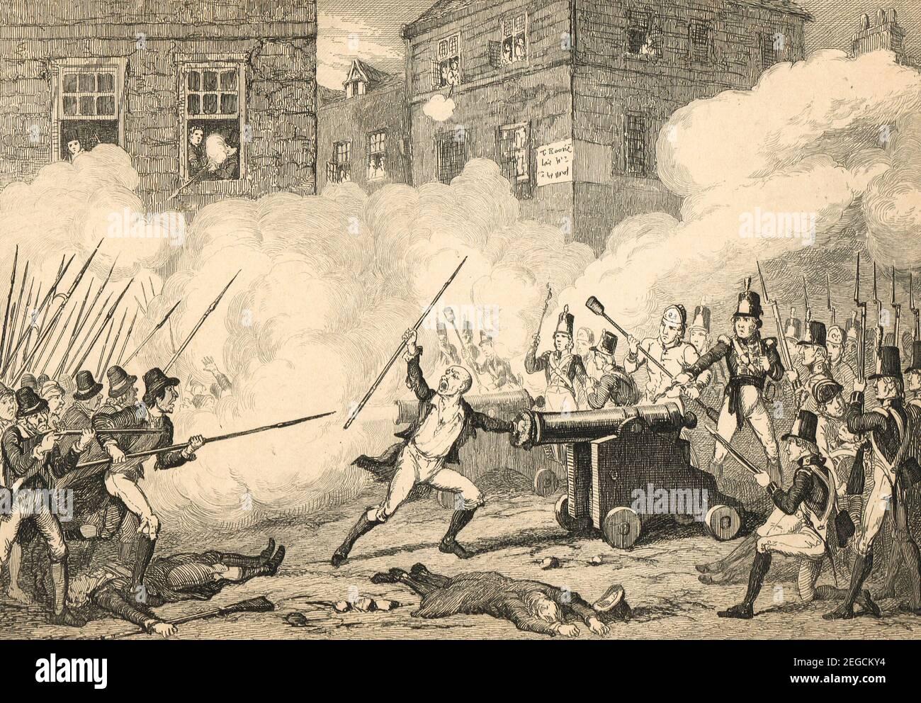 La batalla de Nueva Ross, también conocida como batalla de Ross, 5 de junio de 1798, durante la rebelión irlandesa de 1798 Foto de stock
