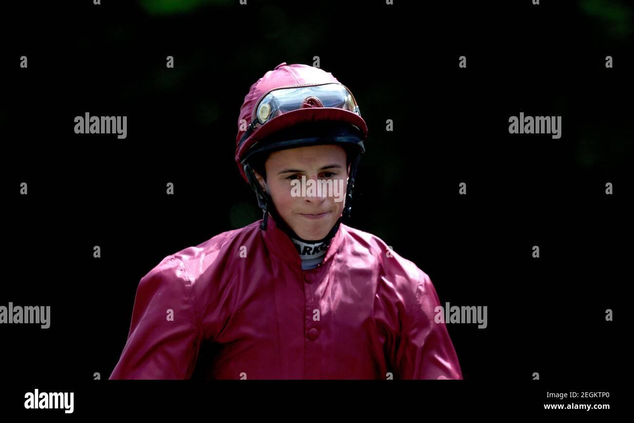 Carreras de caballos - Newmarket Festival de julio - Newmarket Racecourse - 12/7/12 William Buick después de ganar la carrera de Trofeo de Bahrein 13.20 en Shantaram crédito obligatorio: Imágenes de acción / Julian Herbert Livepic Foto de stock